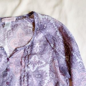 BAND OF GYPSIES | Boho Purple Blouse